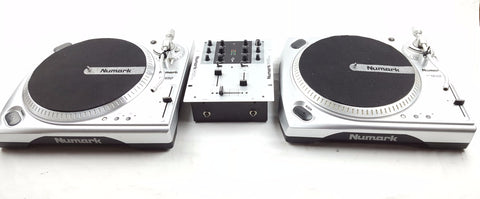 Numark - Battle Pack Decks Package 2X TT 1650 + NUMARK M101 MIXER + HEADPHONES-DJ Decks-DJ Decks