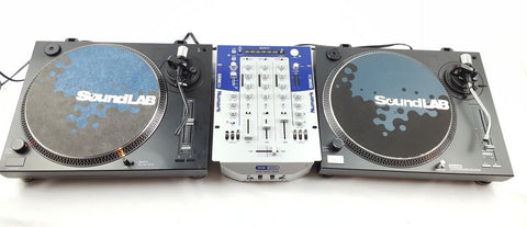 NUMARK SOUNDLAB - BATTLE PACK DECKS PACKAGE 2X DLP3R + MIXER DJ DECKS - uk-turn-table-lab