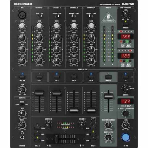 New Behringer DJX750 DJ 5 Channel Mixer with Effects DJX 750-UK Turntable Lab-DJ Decks