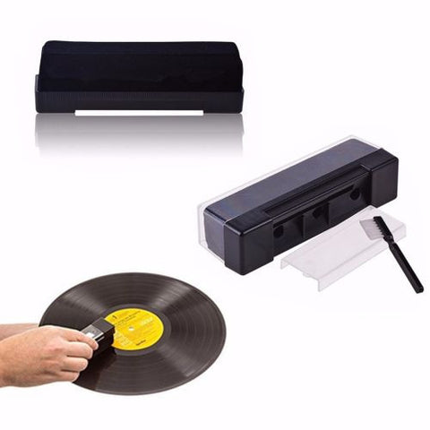 Hot Black Record Cleaning Kit Velvet Brush Stylus Cleaner Anti Dirt Dust Brush-UK Turntable Lab-DJ Decks