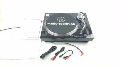 AUDIO TECHNICA AT-LP120-USB Direct-Drive Professional Turntable BLACK - uk-turn-table-lab