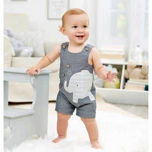 Elephant Chambray Shortall