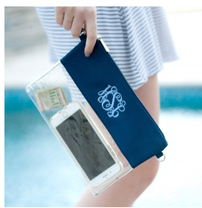 Clear Navy Zip Pouch