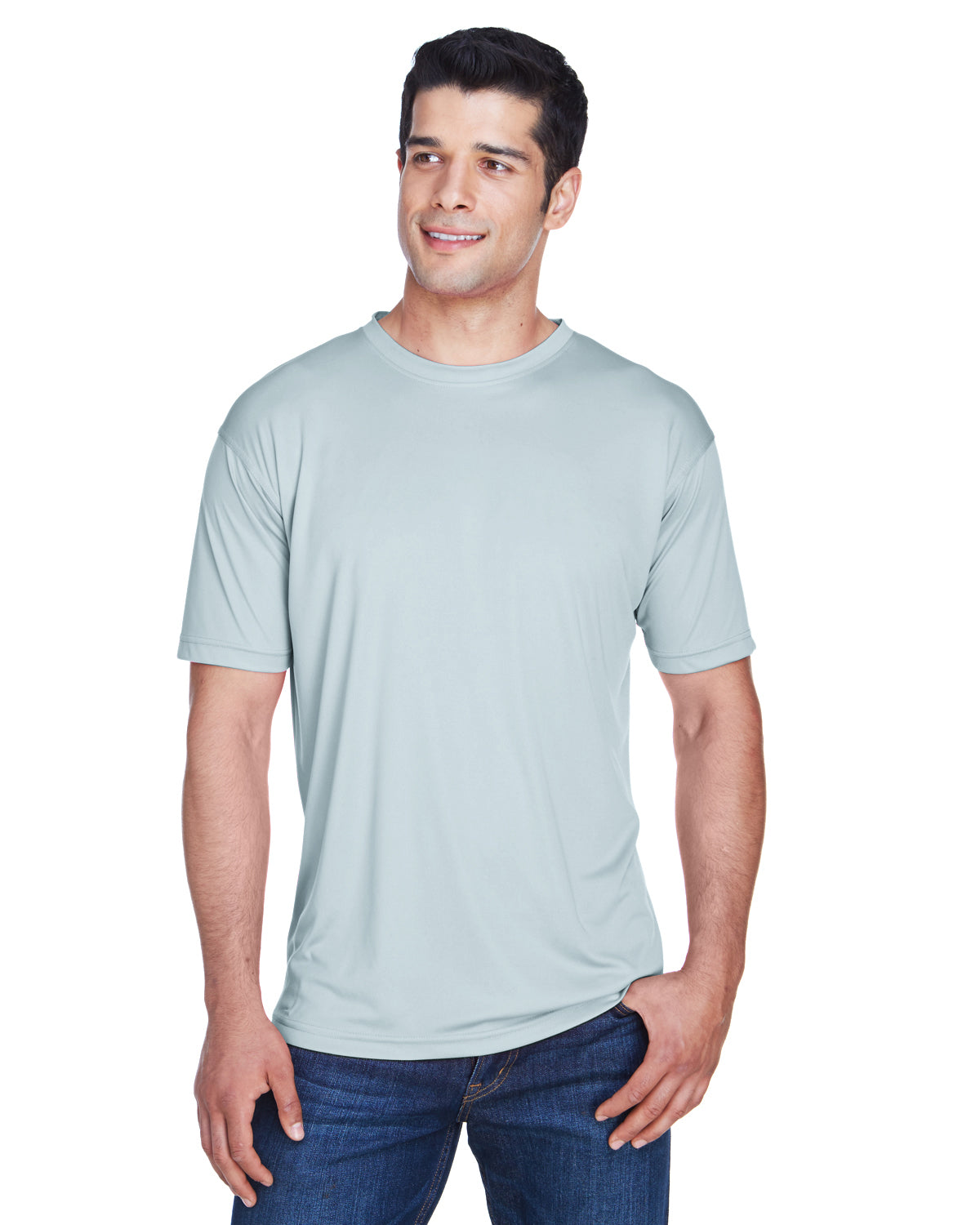 Light Grey Men's Cool & Dry Sport Performance Interlock T-Shirt