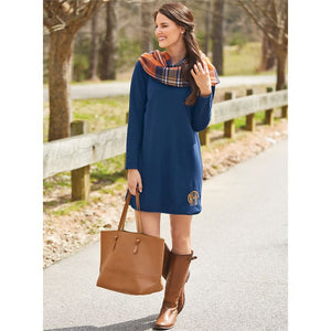 Navy Coralie Terry Dress