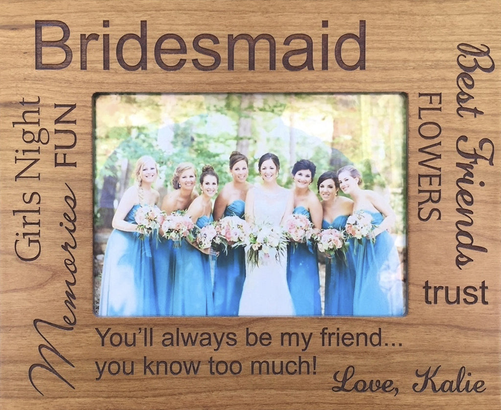 Engraved Wooden Frame for 4 x 6 Picture