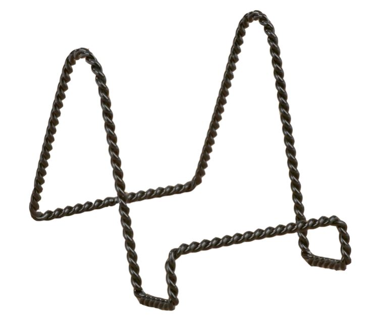 Twisted Black Wire Stand