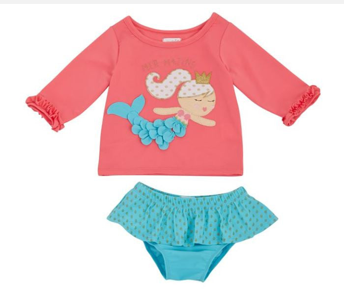 Mermaid Rash Guard Bikini set