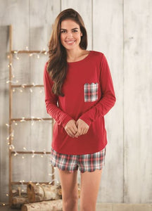 Devon PJ Set Red Plaid