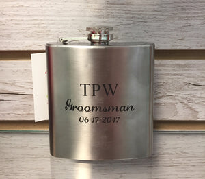Personalized Stainless Steel Flask 6 oz.