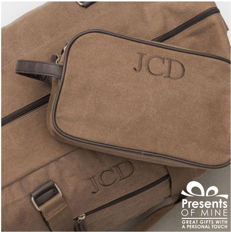 Washed Canvas Dopp Kit