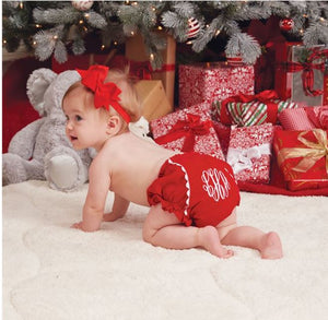 Baby bloomers Red Corduroy