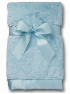 Silky Soft Satin Trimmed Baby Blanket