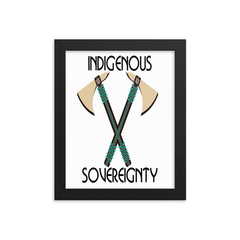 Indigenous Sovereignty Tomahawk Art Prints