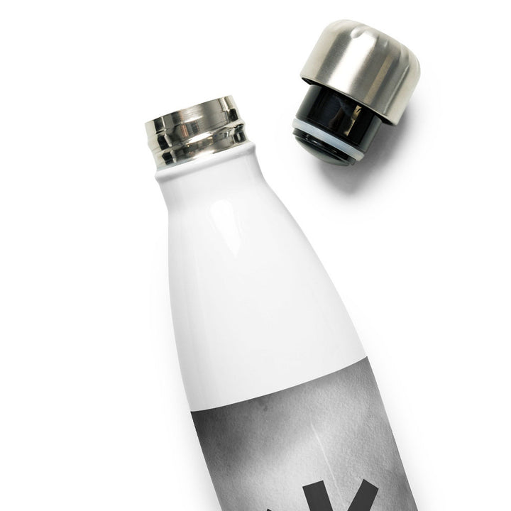 Algiz Gray Grunge Water Bottle
