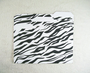 Tiger Print Mini File Folders