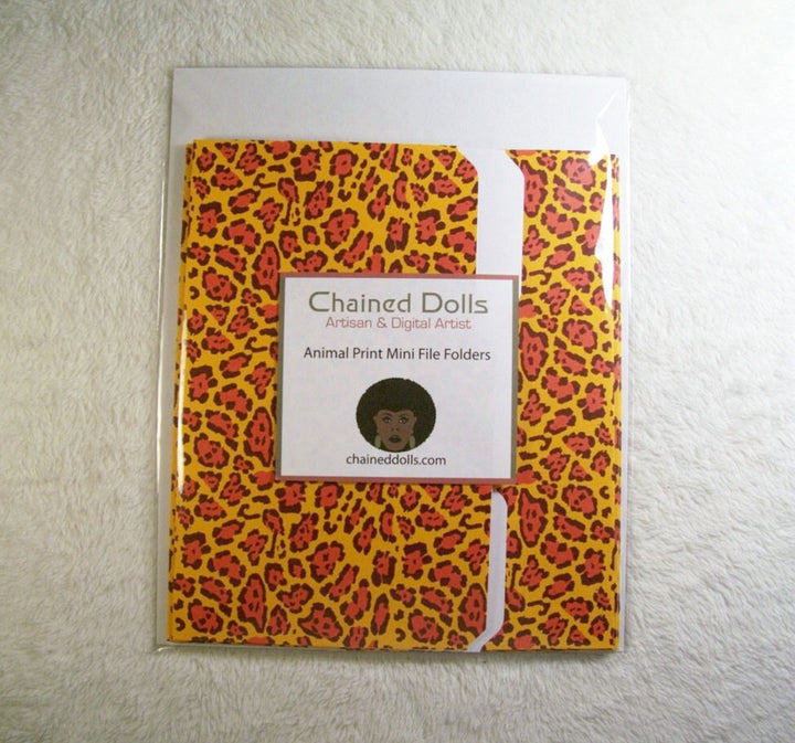 Animal Print 2 Mini File Folders
