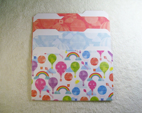 Balloons Mini File Folders