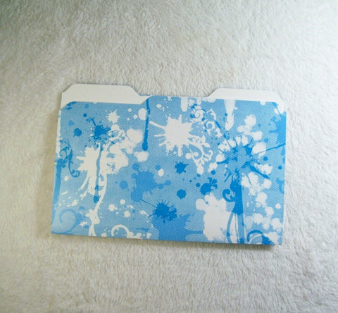 Blue Grunge Mini File Folders