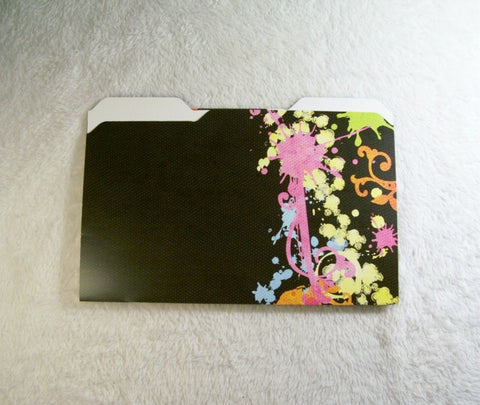 Black Splatter Mini File Folders