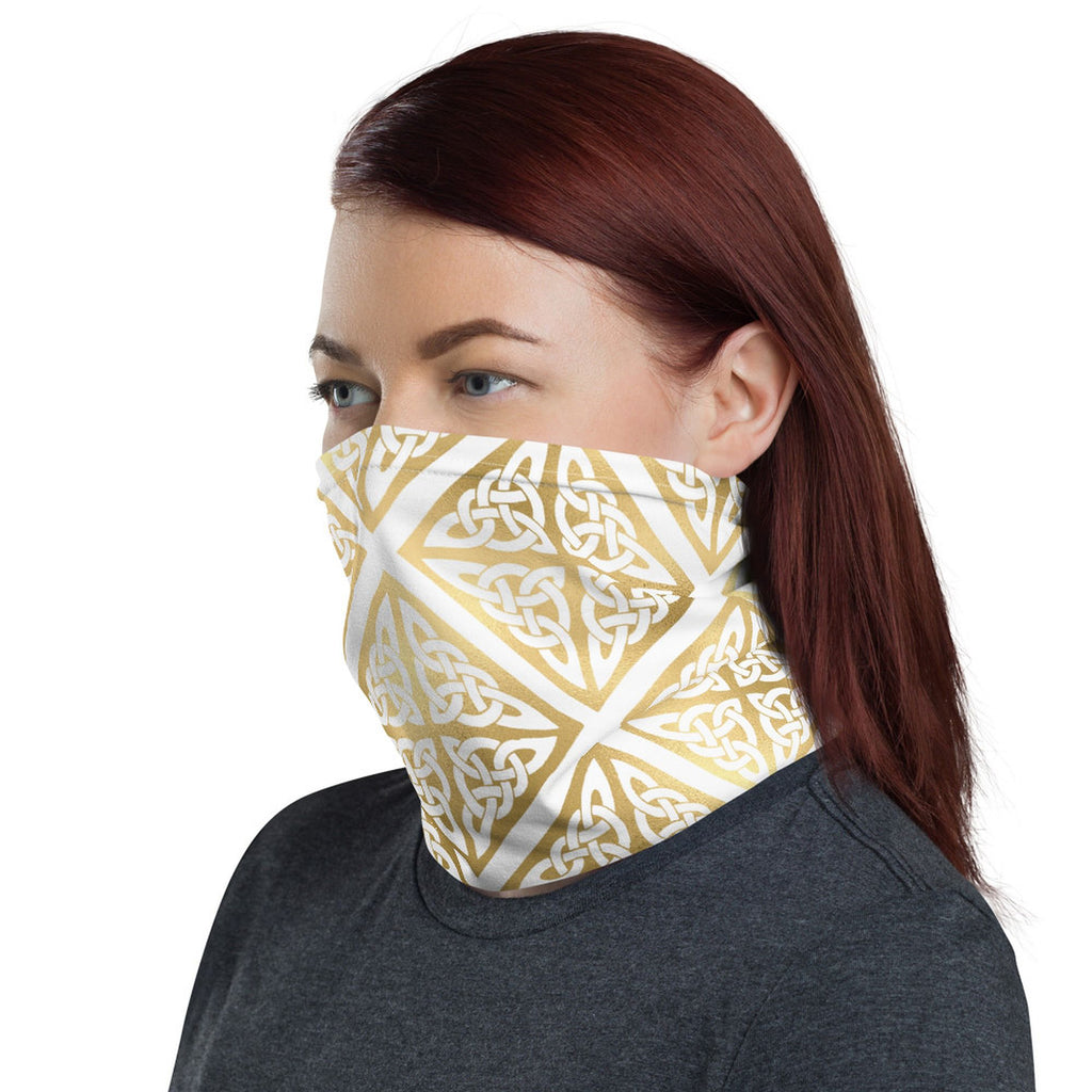 Gold Celtic Neck Gaiter