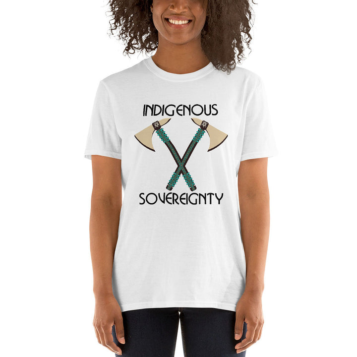 Indigenous Sovereignty Tomahawk Unisex T-shirts
