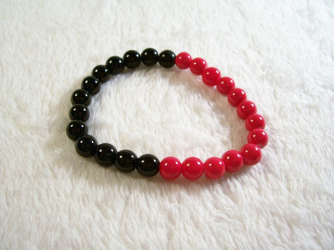 Red and Black Stretch Bracelet 1