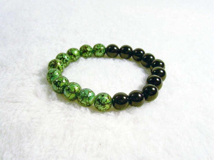 Black and Green Stretch Bracelet 1