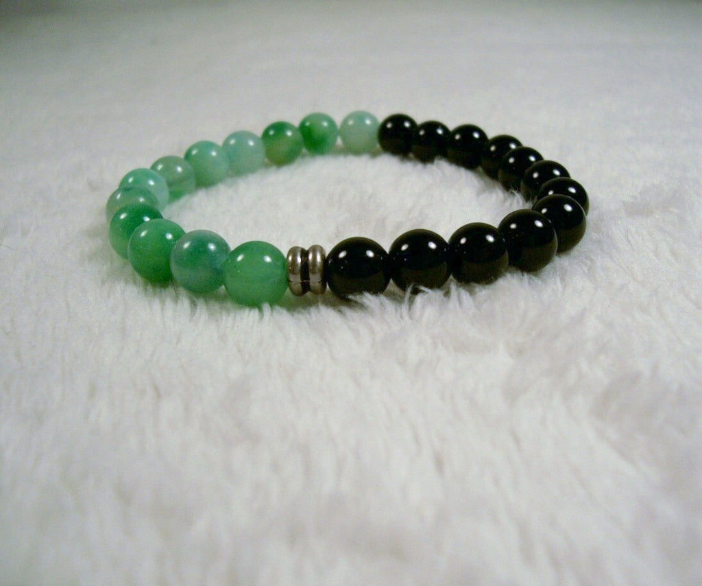 Black and Green Stretch Bracelet 2