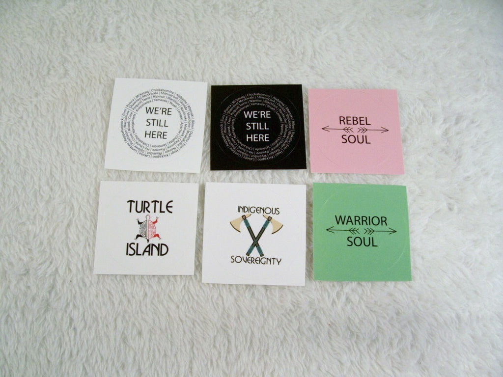 RBG Candelabra Gift Tag Stickers