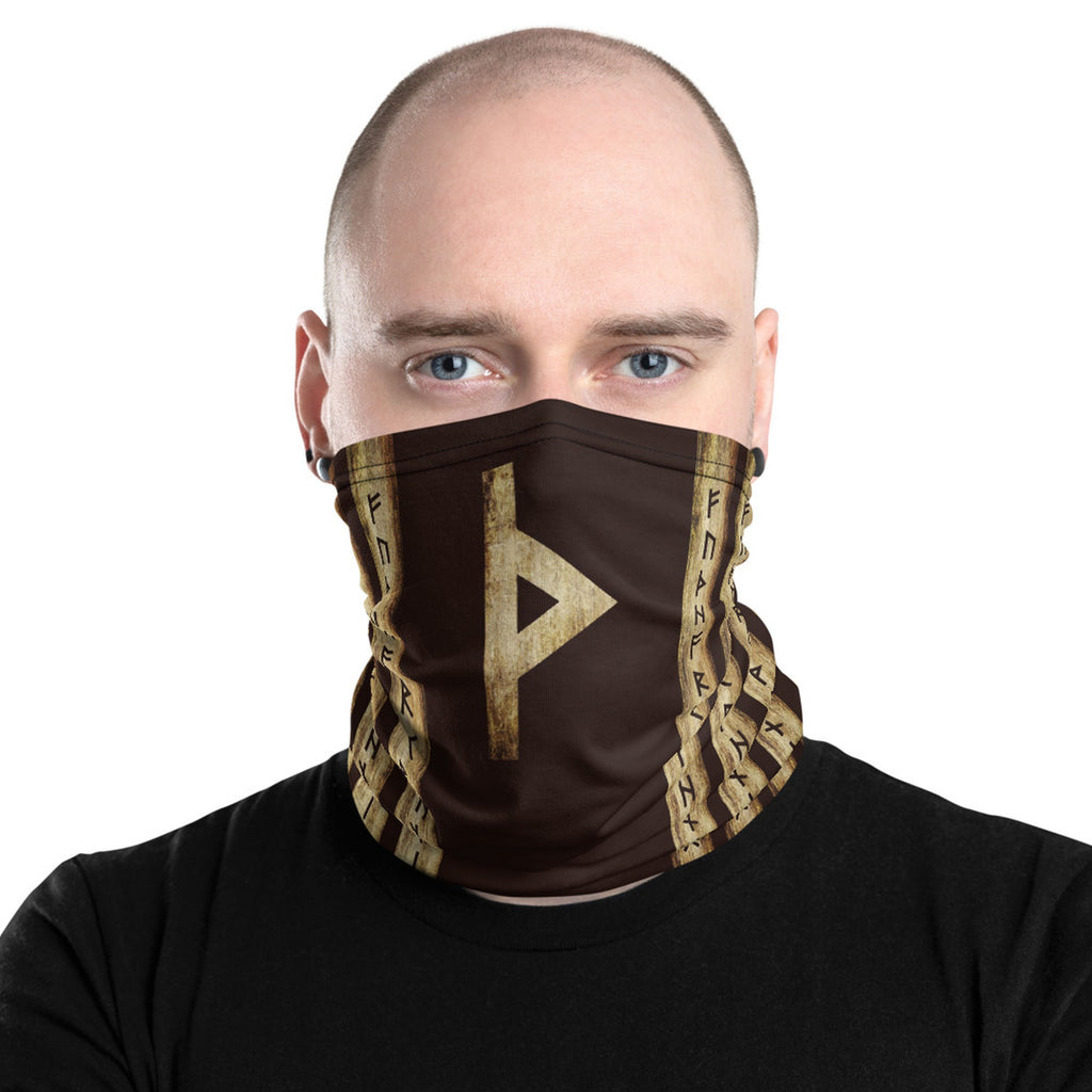 Thurisaz Brown Grunge Neck Gaiter