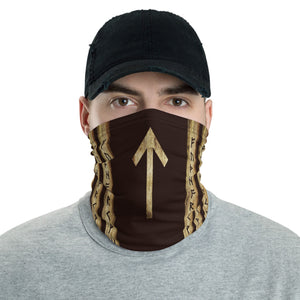 Tiwaz Brown Grunge Neck Gaiter