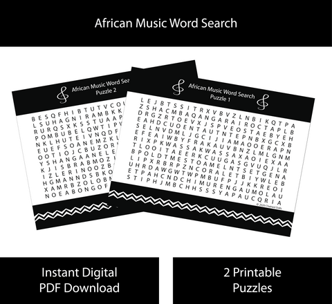African Music Word Search
