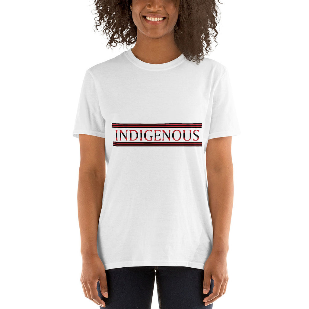 Indigenous Red Black Unisex T-shirts