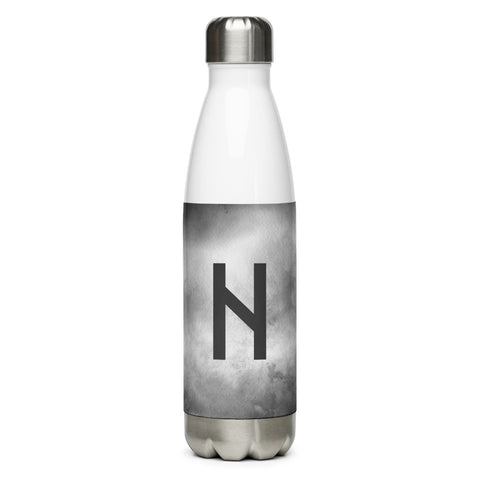 Hagalaz Gray Grunge Water Bottle