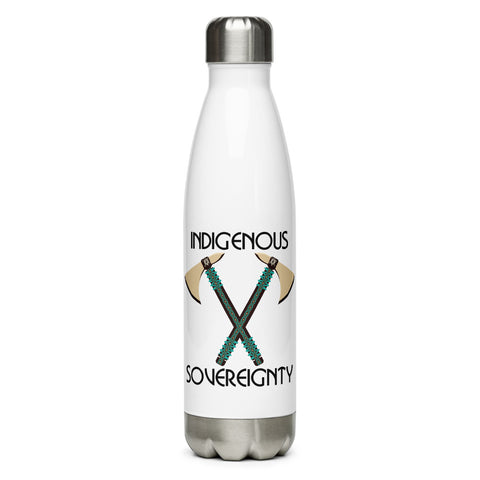 Indigenous Sovereignty Tomahawk Water Bottle