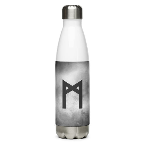 Mannaz Gray Grunge Water Bottle