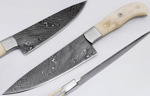 Damascus steel blade chef's kitchen knife 1675