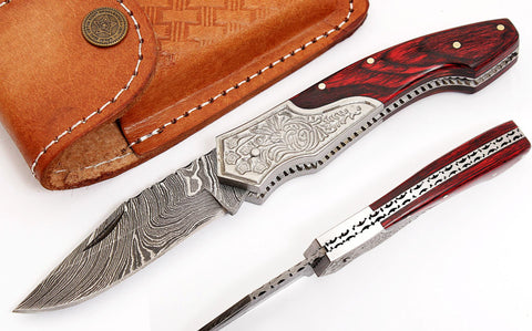 Damascus steel Folding Knife 2045