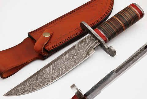 Handmade Damascus steel Bowie knife. 2049