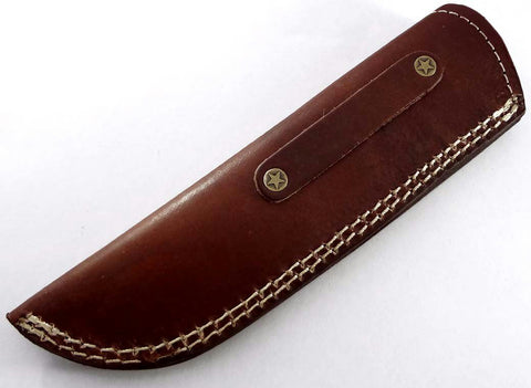 Handmade real leather sheath pouch cover case holder for fixed blade knife.