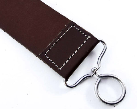 Real Leather Strop Belt for Straight Razor sharpening Barber Shaving