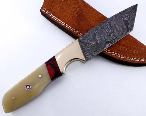 Damascus Steel Blade Tanto  Knife 2137