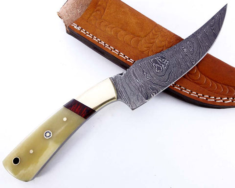 Damascus steel blade H knife  2139