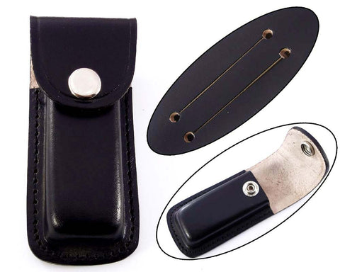 Handmade real leather sheath pouch cover case holder for folding knife.