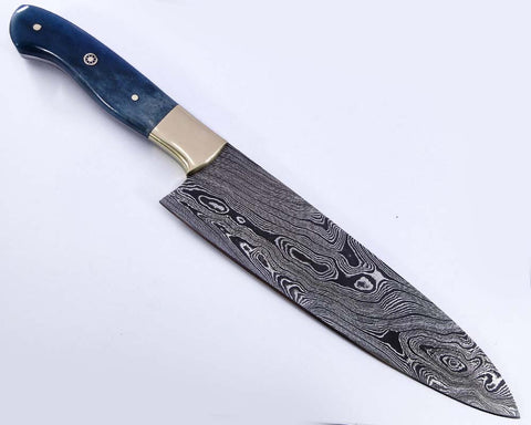 Custom made damascus steel chef knife 2146