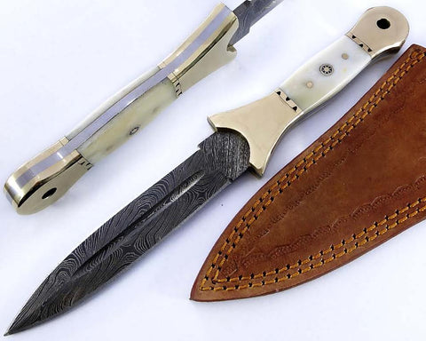 Damascus steel fixed blade Knife 2150