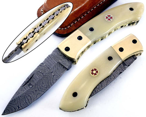 Damascus steel blade Pocket knife 2151