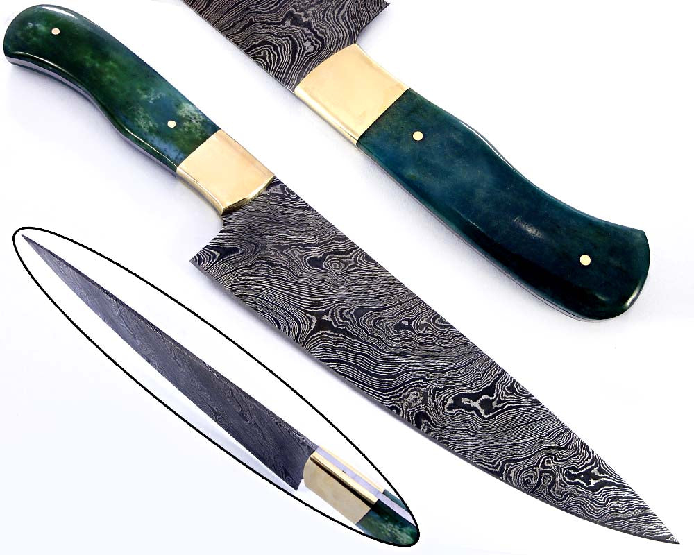 Damascus steel  blade Kitchen knife 2158
