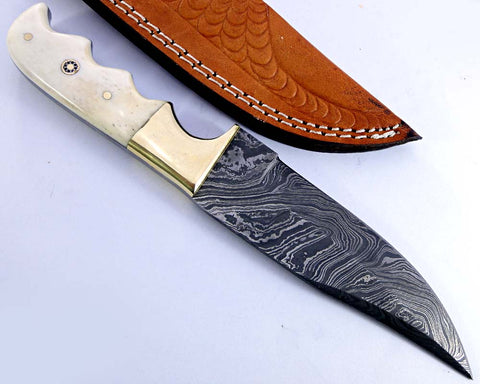 Damascus steel blade H knife  2160